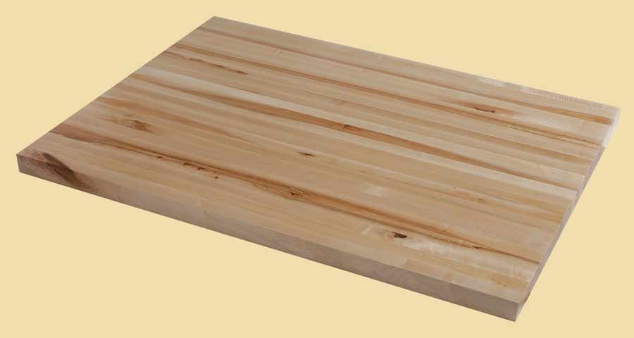 Character maple butcher block countertops country mouldings for Maple slab countertop