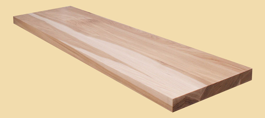 Prefinished hickory plank countertop for Plank blocks