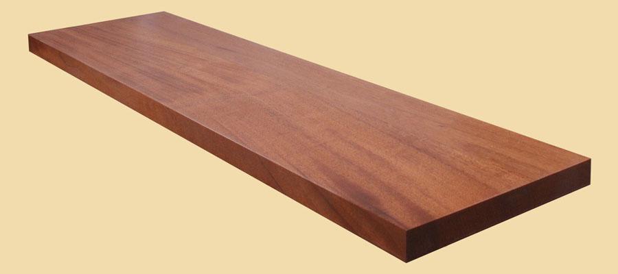 Prefinished Mahogany Wood Plank Countertop