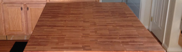 Order unfinished end grain butcher block countertops in a variety of wood species.