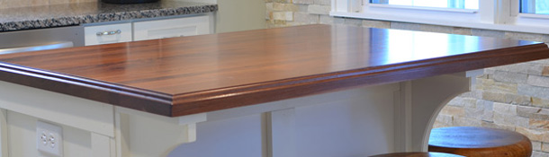 Prefinished plank countertops are available with conversion varnish or mineral oil.