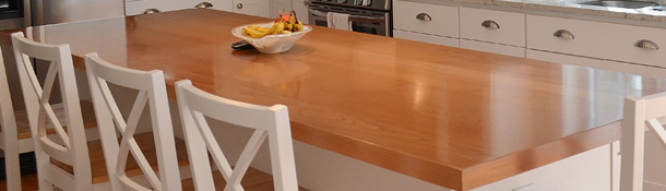 High quality plank countertops in Red oak, White oak, poplar, American cherry, Brazilian cherry, maple, ash, walnut, knotty alder, beech, knotty pine, mahogany, hickory, Quartersawn red oak, Quartersawn white oak, or Spanish cedar.