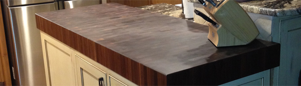Prefinished End Grain Butcher Block Countertops
