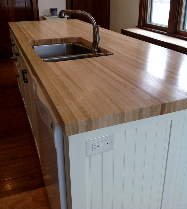 Ash Butcher Block Countertop