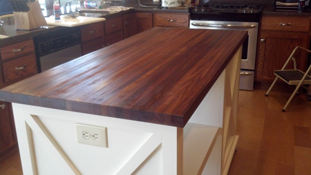 Examples of stylish butcher block countertops