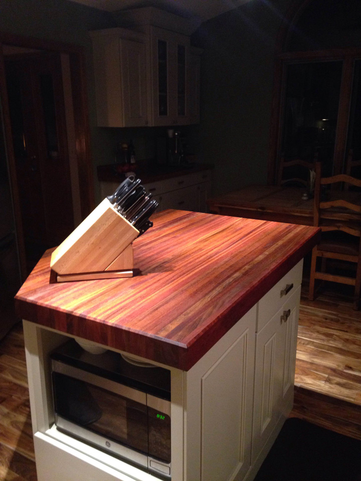 Brazilian Cherry Butcher Block Countertops Country Mouldings