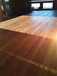 Hand Scraped White Oak Butcher Block Countertop