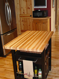 Hickory Butcher Block Countertop