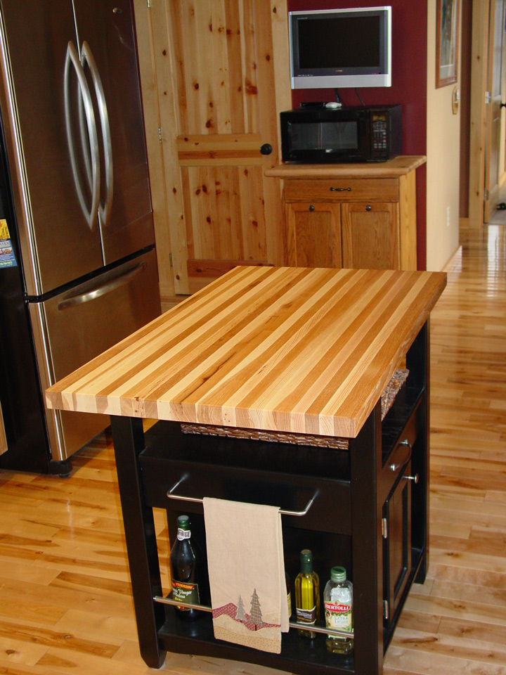 Charming Hickory Butcher Block Countertop