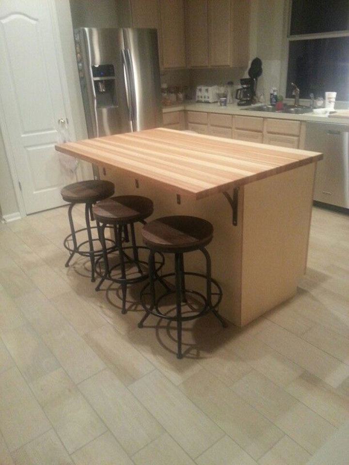 custom size hickory butcher block countertop quote and