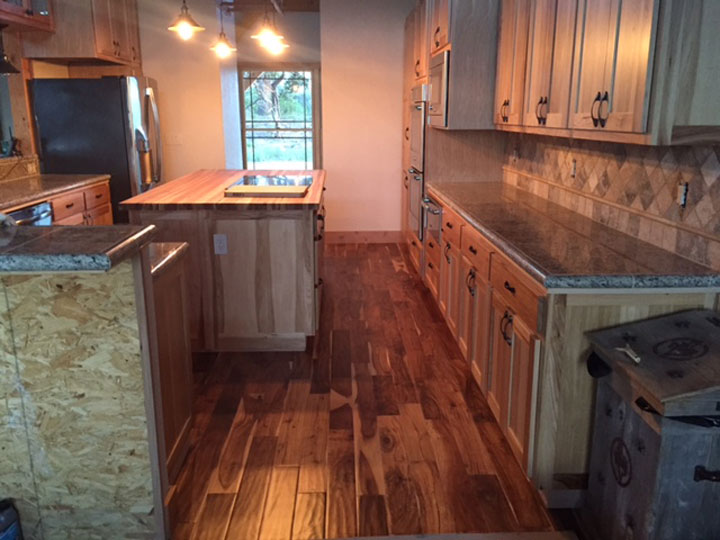 Hickory Butcher Block Countertop. Wood: Hickory