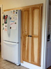 Prefinished Hickory Cabinet Door
