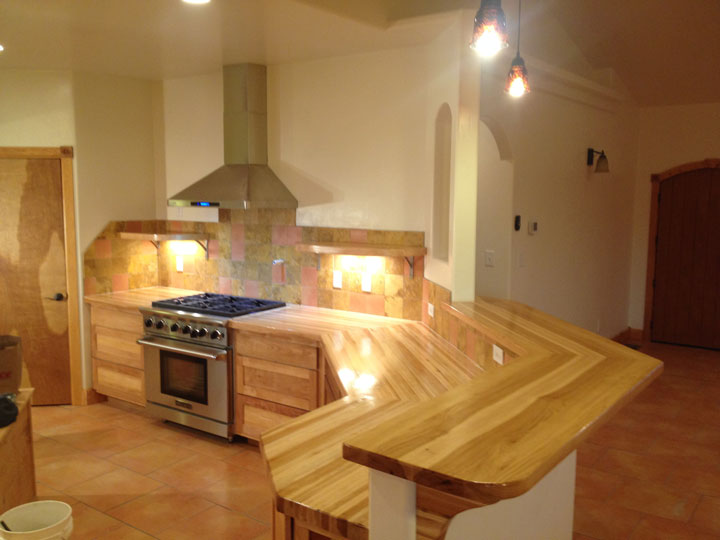 Awesome Hickory Plank And Butcher Block Countertops