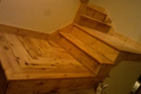 Knotty Pine Stair Tread