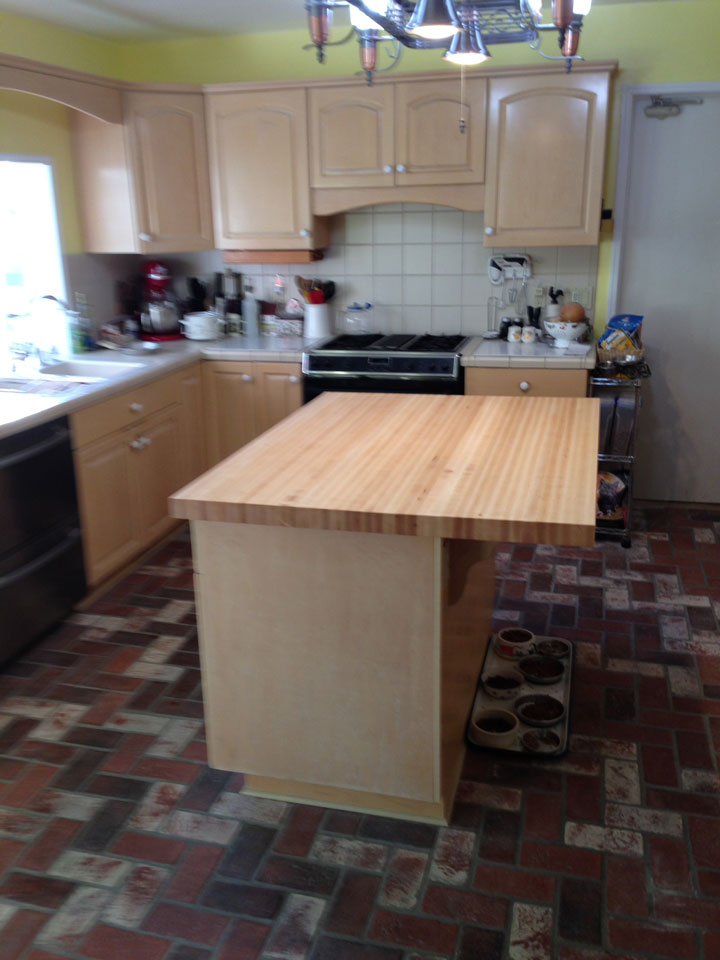 Maple Butcher Block Countertop