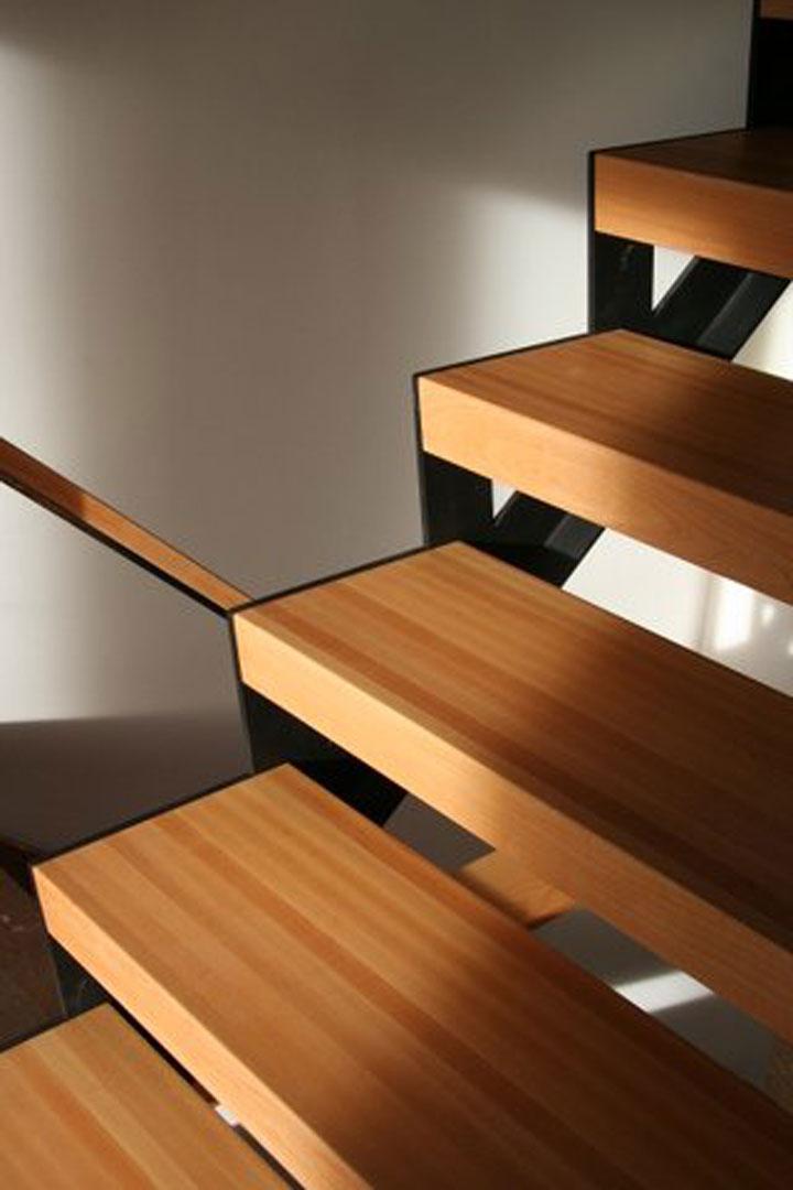 Maple Butcher Block Style Stair Tread