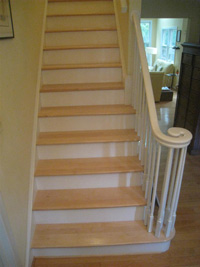 Maple stair tread