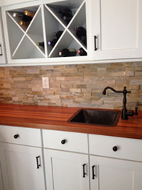 Prefinished Brazilian cherry butcher block countertop