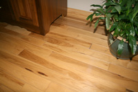 Prefinished character hickory hardwood flooring