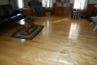 Prefinished character maple hardwood flooring