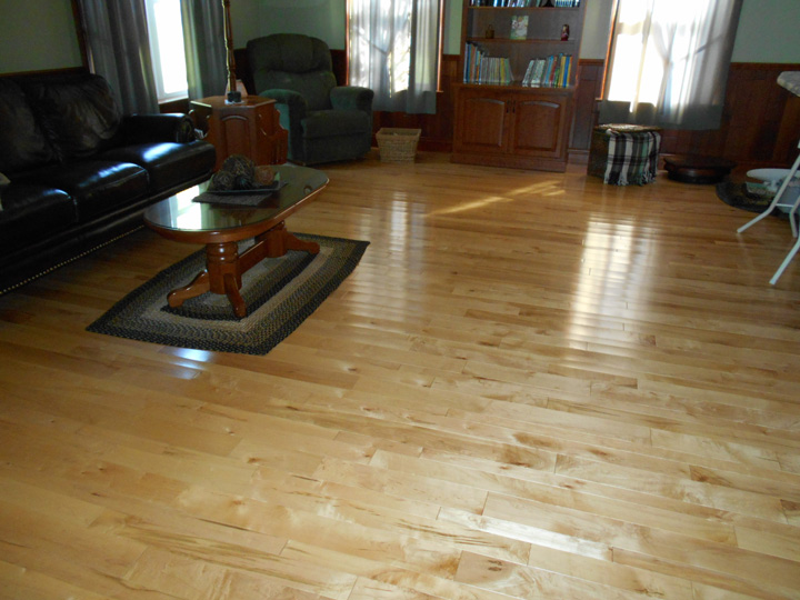 Photo gallery butcher block countertops stair parts for Prefinished wood flooring