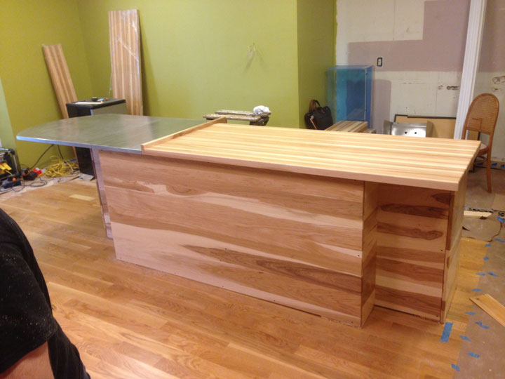 Captivating Prefinished Hickory Butcher Block Countertop