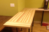Custom Size Hickory Butcher Block Countertop - Quote and Order Online