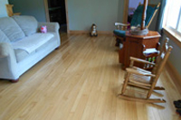 Prefinished hickory hardwood flooring