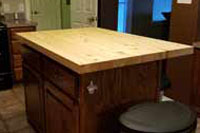 Prefinished Knotty Pine Butcher Block Countertop