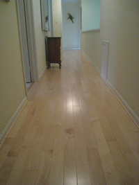 Prefinished maple hardwood flooring