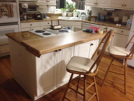 Prefinished Quartersawn White Oak Plank Countertop