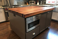 Prefinished Sappy Walnut Butcher Block Countertop
