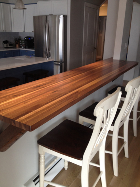 Captivating Prefinished Walnut Butcher Block Countertop