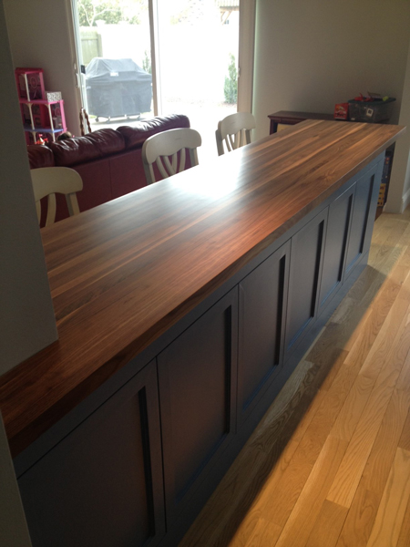 Beautiful Prefinished Walnut Butcher Block Countertop