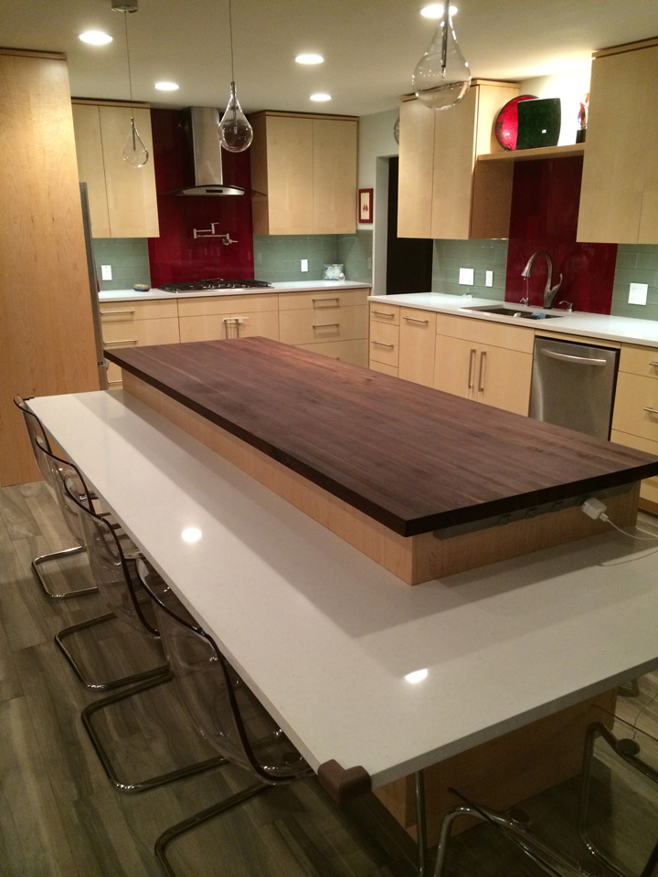 custom size walnut butcher block prefinished quote and