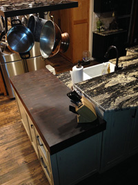Prefinished Walnut End Grain Butcher Block Countertop
