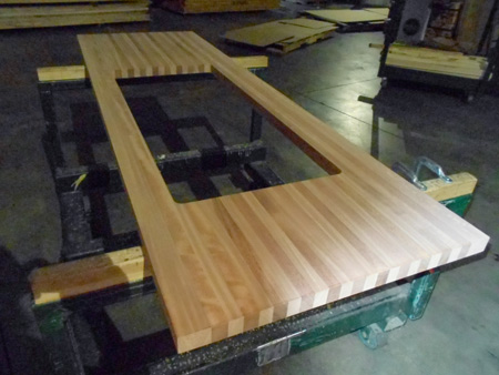 Photo Gallery Production Pictures Of Butcher Block Countertops Stair Treads And