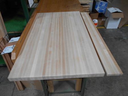 Maple Butcher Block Countertop And Backsplash