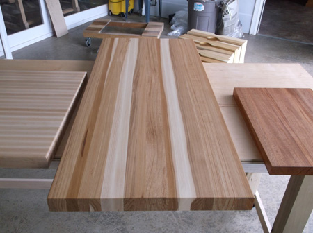Prefinished Hickory Butcher Block Countertop