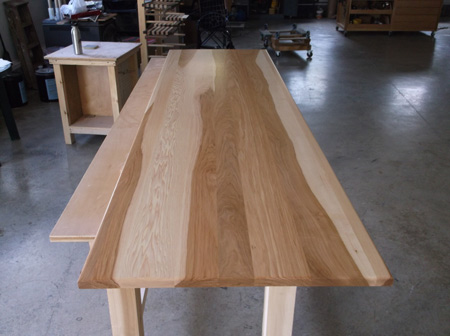 Superb Prefinished Hickory Plank Countertop