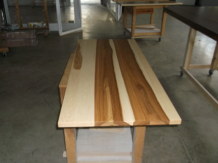 Prefinished Hickory Plank Countertop