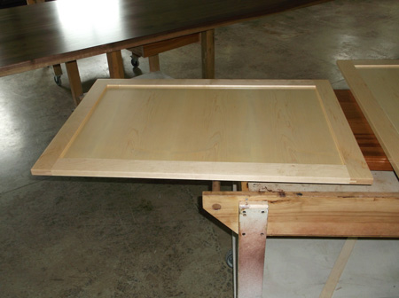 Photo gallery production pictures of butcher block for Prefinished kitchen cabinets