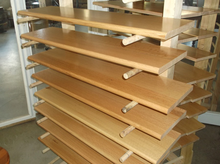 Prefinished Maple Stair Tread