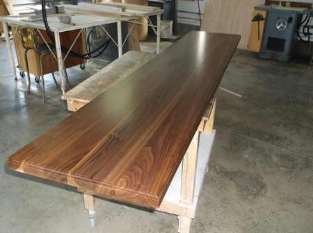 Prefinished Walnut Plank Countertop