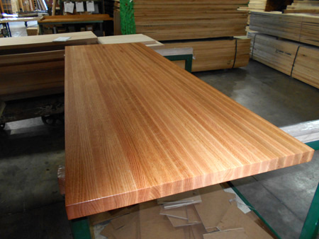 Oak Kitchen Butchers Block : Photo Gallery - Production Pictures of Butcher Block Countertops, Stair Treads and other Wood ...