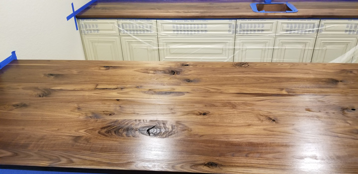 Character Walnut Wide Plank Countertops