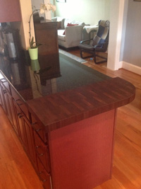 Prefinished Walnut End Grain Butcher Countertop