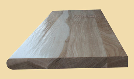 Prefinished Hickory Hand Scraped Wood Stair Tread