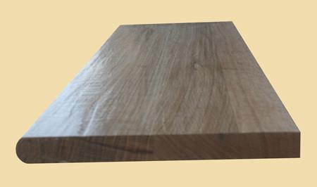 Prefinished Quartersawn White Oak Hand Scraped Wood Stair Tread