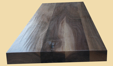 Prefinished Walnut Hand Scraped Extra Thick Stair Tread